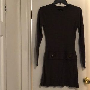 IZ Byer taupe sweater dress in size small.
